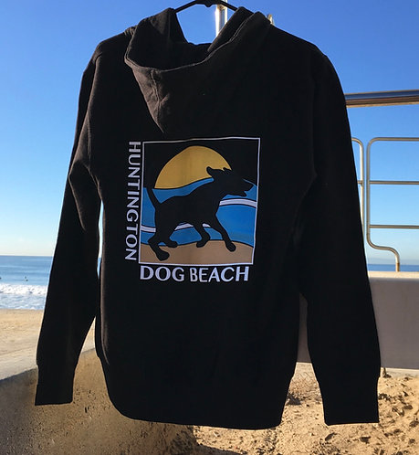 """Running Dog"" Zip Sweatshirt Hoodie"