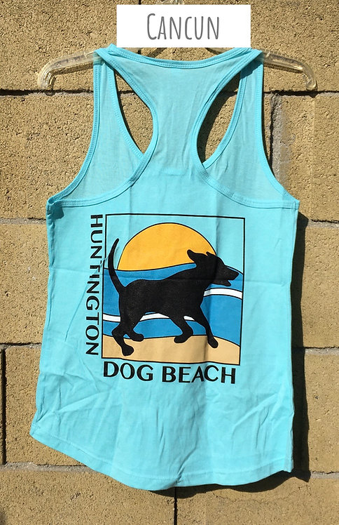 """Running Dog"" Racer Back Tank Ladies"