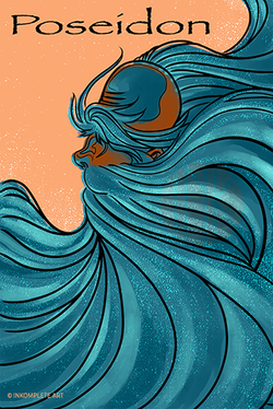 Poseidon Book Cover ©Inkomplete Art