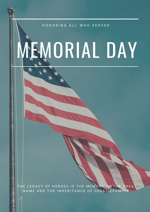 American Flag Photo Memorial Day Poster.