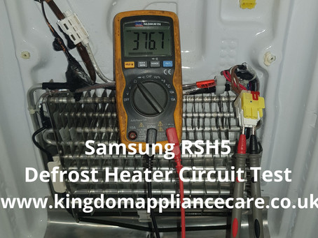Samsung American Fridge Freezer | RSH5 | Defrost Heater Test | How To Do...