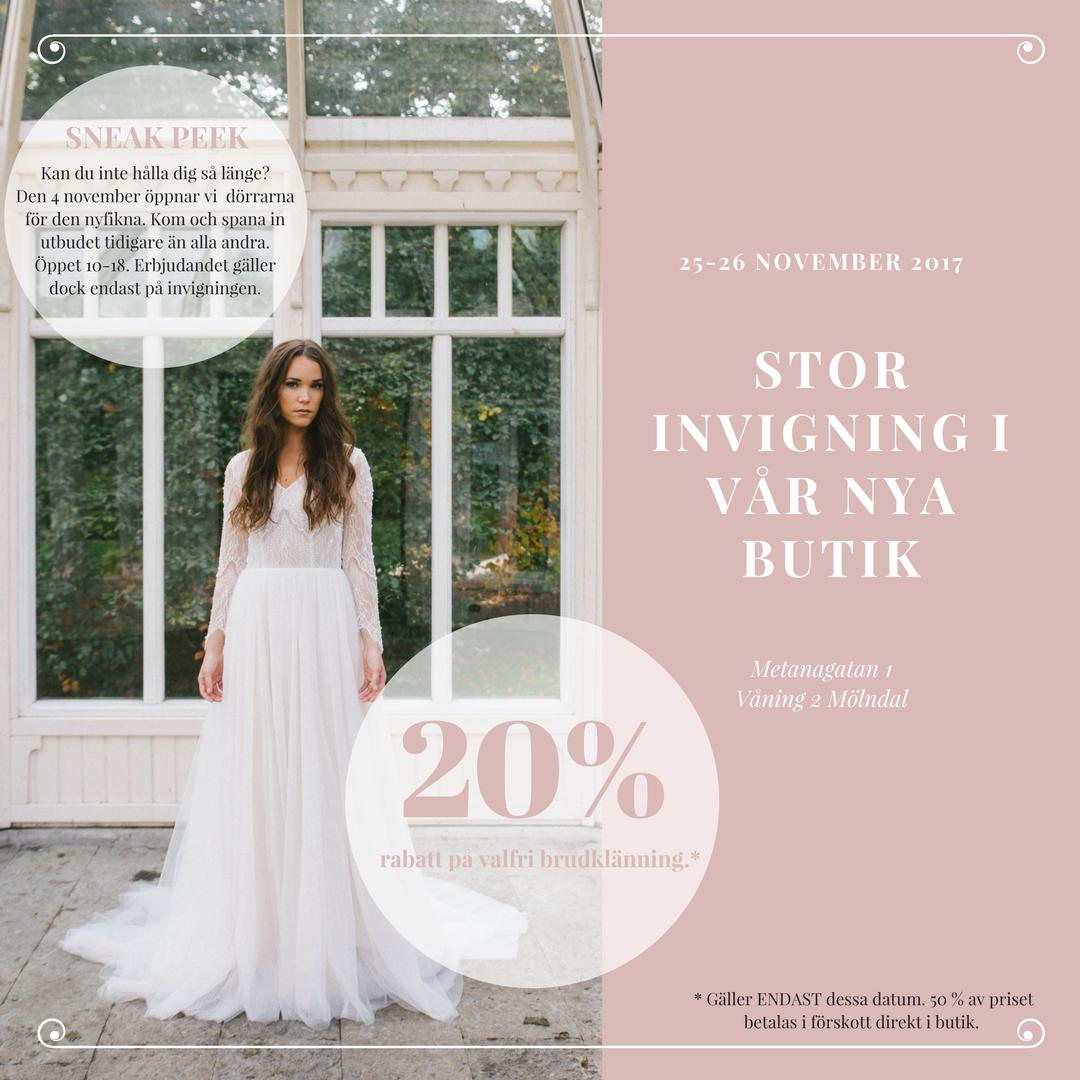 65debc501ba8 Nu behöver du inte resa längre! | Ivory & Grace | Nordens största  bröllopsbutik | exklusiva brudklänning