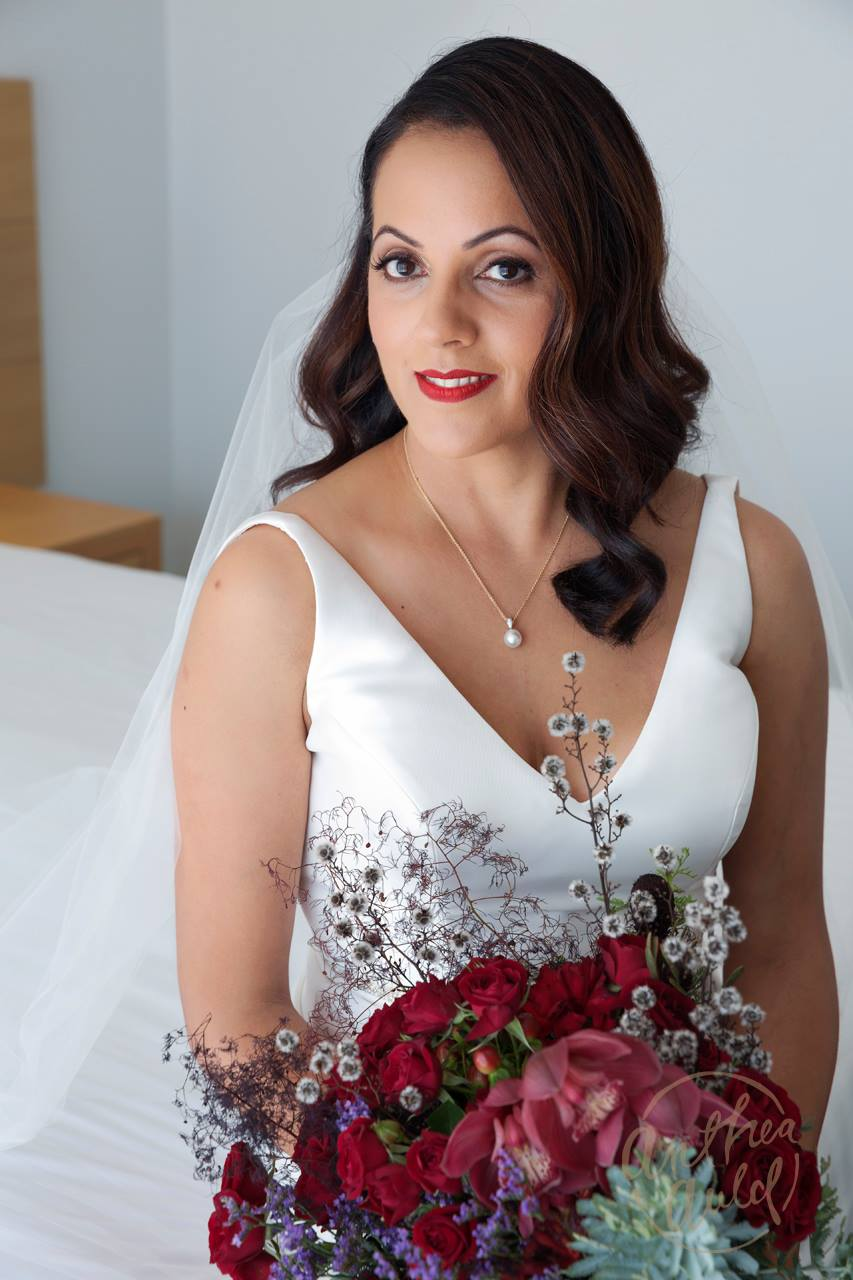 Bridal makeup by Vikki