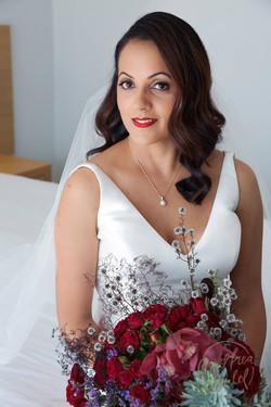 Bridal makeup by Vikki