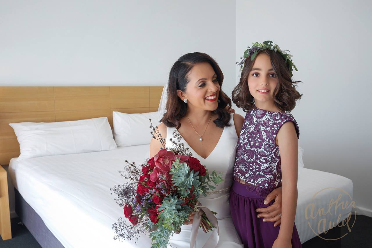 Bride & Flowergirl makeup by Vikki