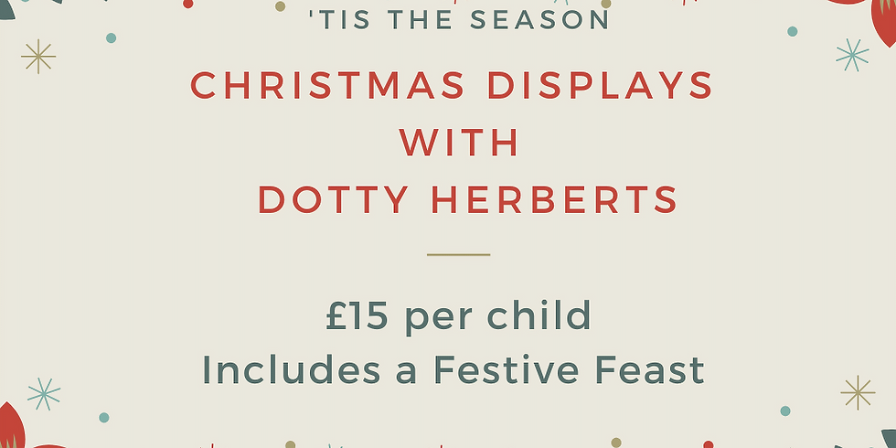 Christmas floral display with Dotty Herberts Florist followed by festive feast from Coffee at Lyde