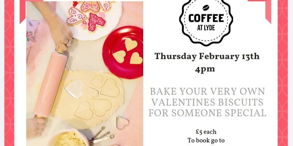 Valentines biscuit making