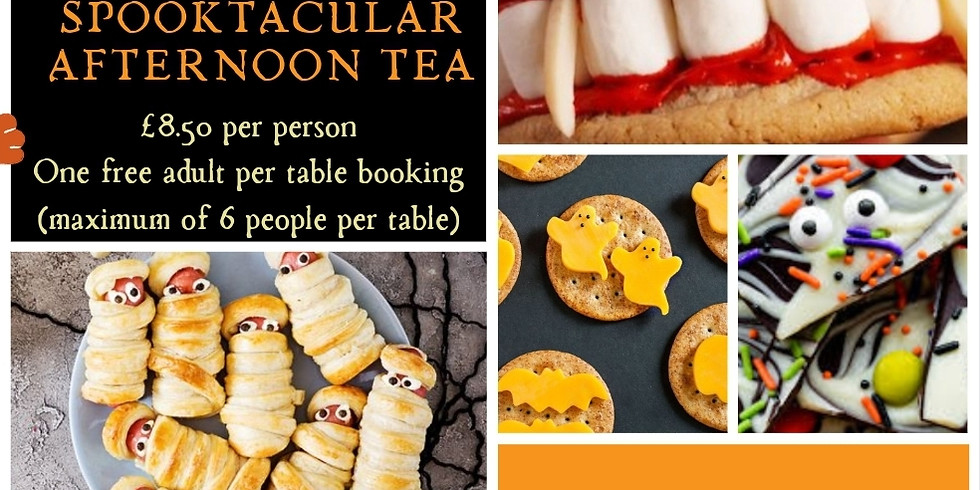 Spooktacular Afternoon tea. Two 1.5 hour sessions available.