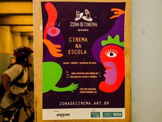 Em 2018 realizamos atividades cineclubistas no CIEP Che Guevara, em Campo Grande, zona oeste do Rio.