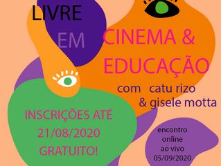 """Zona de Cinema realizou a """"I Formação Livre em Cinema e Educação"""" de forma online durante pandemia"""