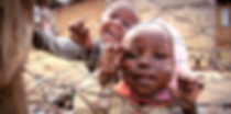 Children of the Kibera urban slum in Nairobi, Kenya