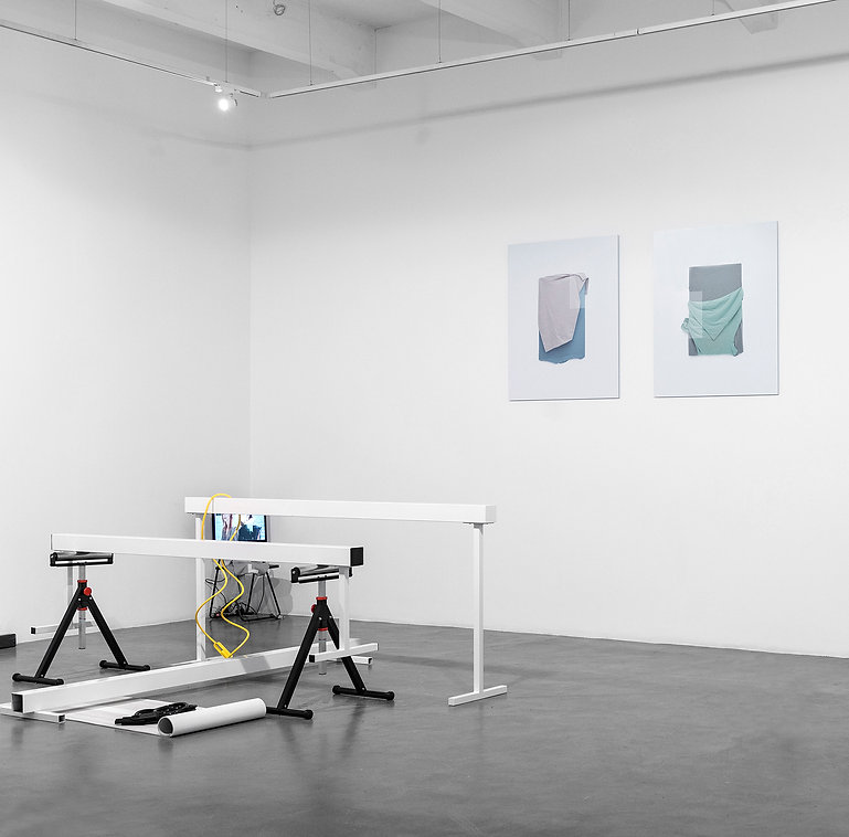 Image of 'Working Prototype' artwork by Tyler Mallison, 2017; 'New Material' exhibition at A.P.T Gallery London, UK, 2017 with artists Nika Neelova, Edith Kollath, Paul Cervera, Paul Kindersley