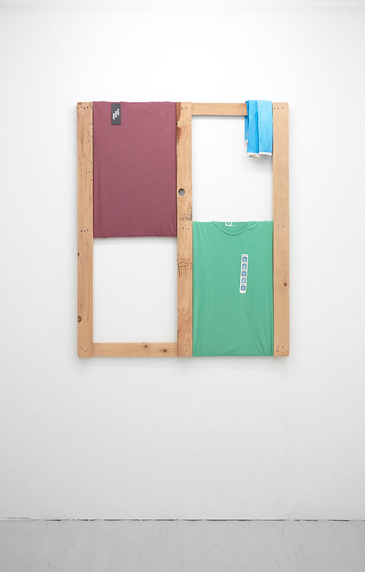 Tyler Mallison: Large Maroon and Green with Blue (Arcadian Algorithms), 2015
