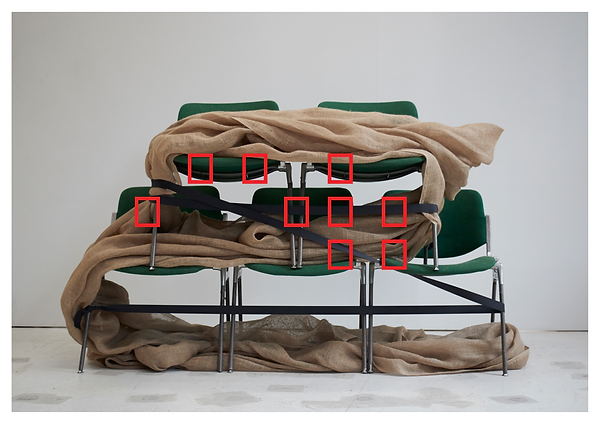 Tyler Mallison: Untitled (Chair Constructions), 2014