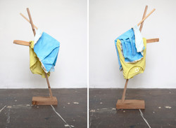 Large Yellow with Blue (Arcadian Algorithms), 2015 / Tyler Mallison