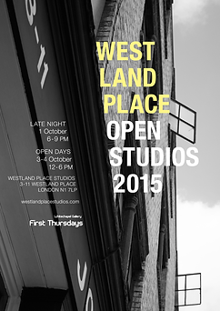 Westland Place Open Studios, London, UK, 2015;  poster by London artist Tyler Mallison