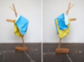 Tyler Mallison: Large Yellow with Blue (Arcadian Algorithms), 2015