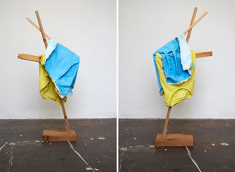 Tyler Mallison: Large Yellow with Blue (Arcadian Algorithms), 2015