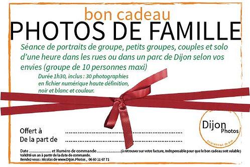 Cadeau séance photo de famille jusqu'à 10 personnes à Dijon