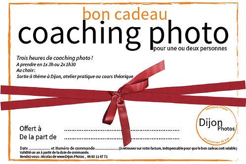 Bon cadeau pour trois heures de cours photo à Dijon