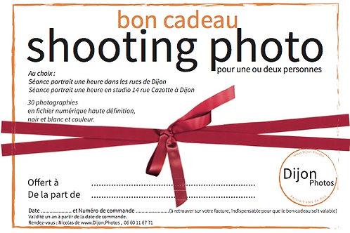 Bon cadeau pour une heure de SHOOTING PHOTO à Dijon et 30 photos