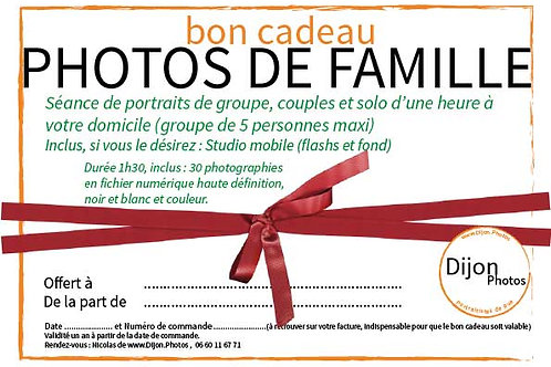 Cadeau Séance photo à Domicile avec studio mobile