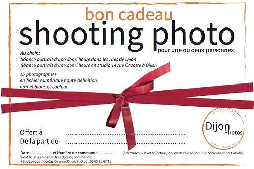 Bon cadeau pour une demi-heure de SHOOTING PHOTO à Dijon et 15 photos