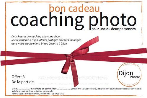 Bon cadeau pour deux heures de cours photo à Dijon