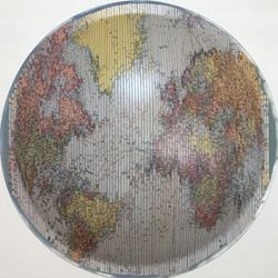 Convex Map,60cm,Collage,2017,1