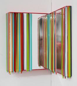 Trace of Sans, 25.5x21,25.5x24cm, Acrylic,mirror & resin on panel,2021 (3).JPG