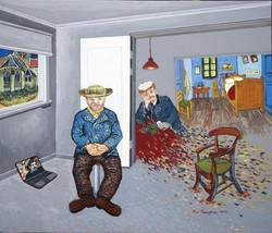 사유의공간-Hommage to Gogh, 10F, Acrylic on C