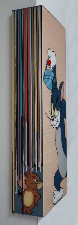 Trace of Sans-friendship, 90.5x15, 90.5x35cm, Acrylic & resin on panel,2021 (5).JPG