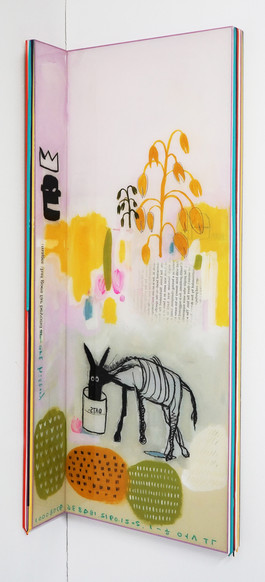 Trace of Sans-Hommage to Basquiat, 90.5x10, 90.5x35cm, Acrylic & resin on panel,2021.JPG