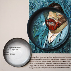 Convex Memory-Hommage to Gogh, 40S, Acrylic on Canvas, 2018 (3)