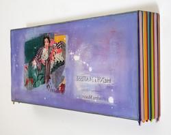 Trace of Sans, 20x45cm, Acrylic on panel