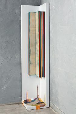 Trace of Sans, 160x35x35cm, Acrylic on P