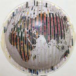 Convex Map,25cm,Collage,2017,1