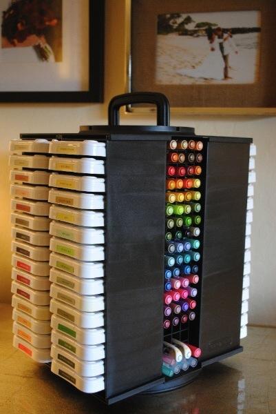 stamp pad & pen organizer