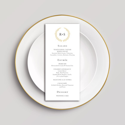 Wreath Monogram Menu
