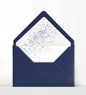 Liner with Navy Envelope