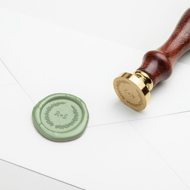 Custom Sage Wax Seal
