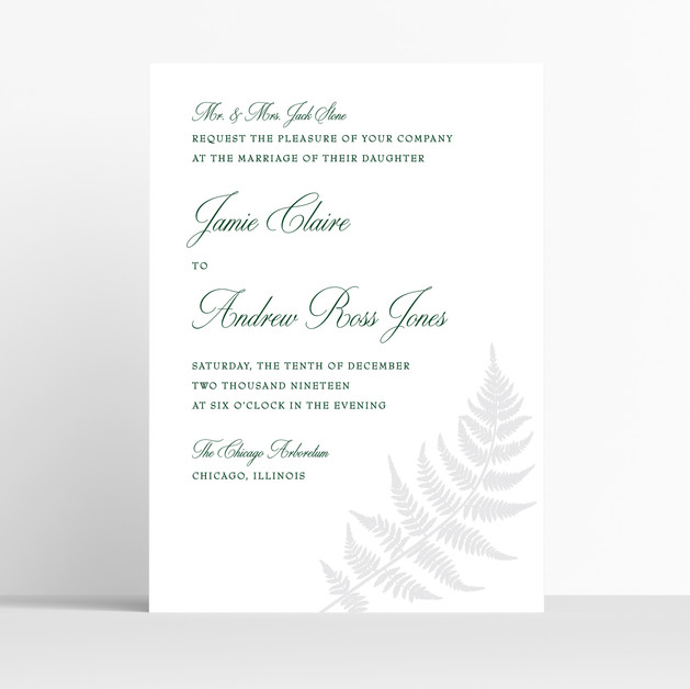 Fern Invitation