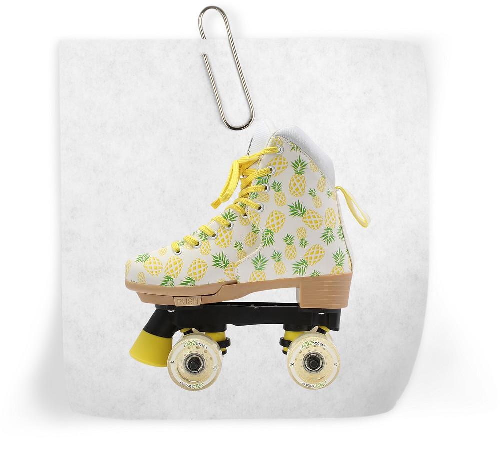 Roller derby pineapple roller skates