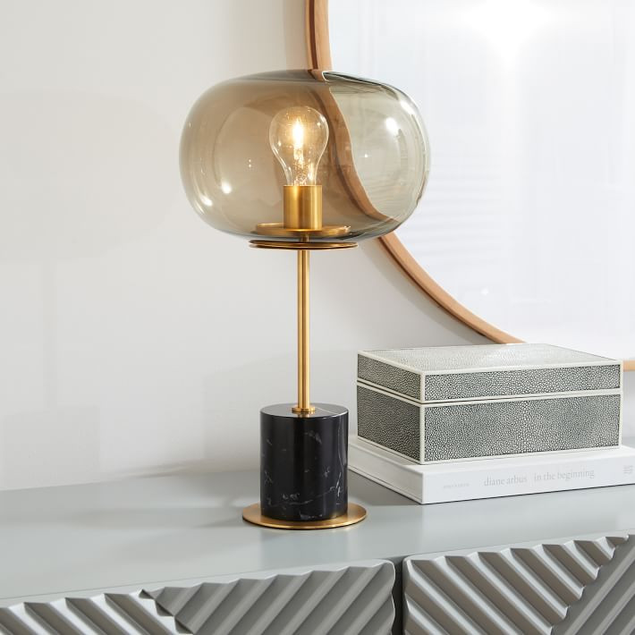 Modern desk lamp eclectic office
