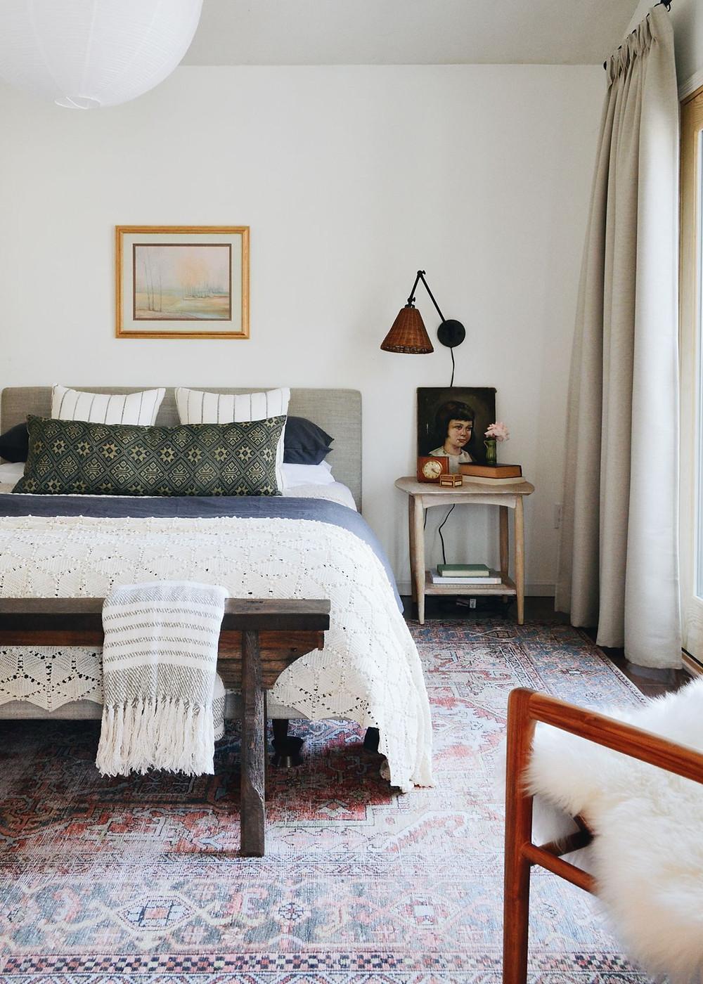 Turkish vintage rug textiles interior design