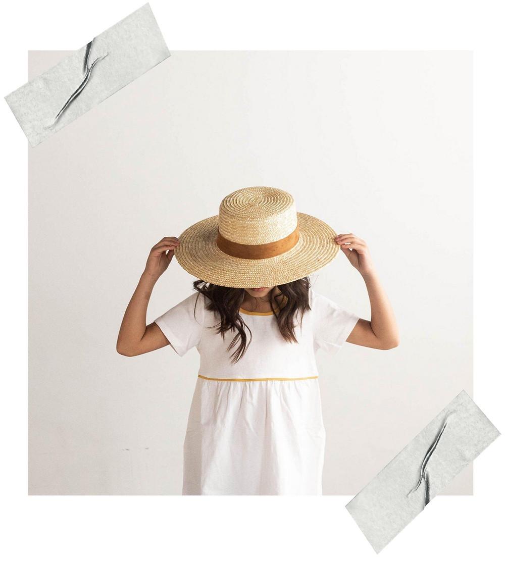 girls straw boater hat sale