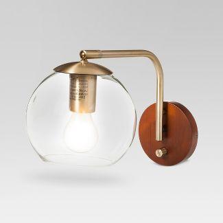 Menlo Glass Globe Wall Light