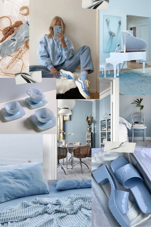 summer color trend sky blue fashion interiors