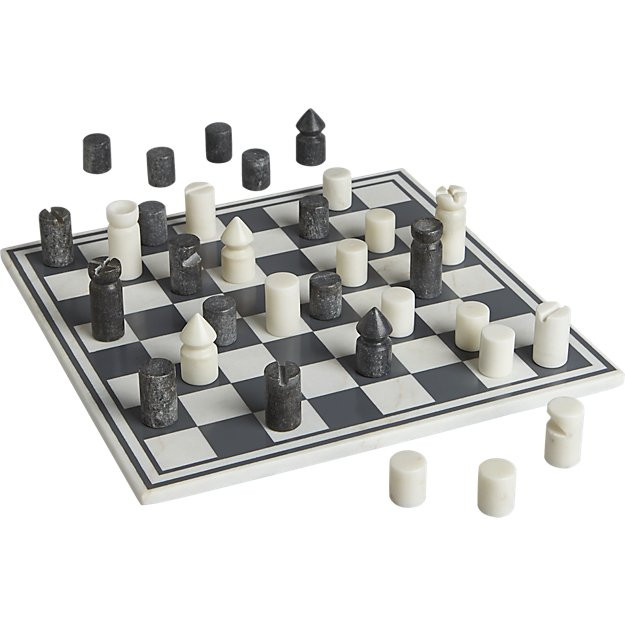Modern marble chess game set