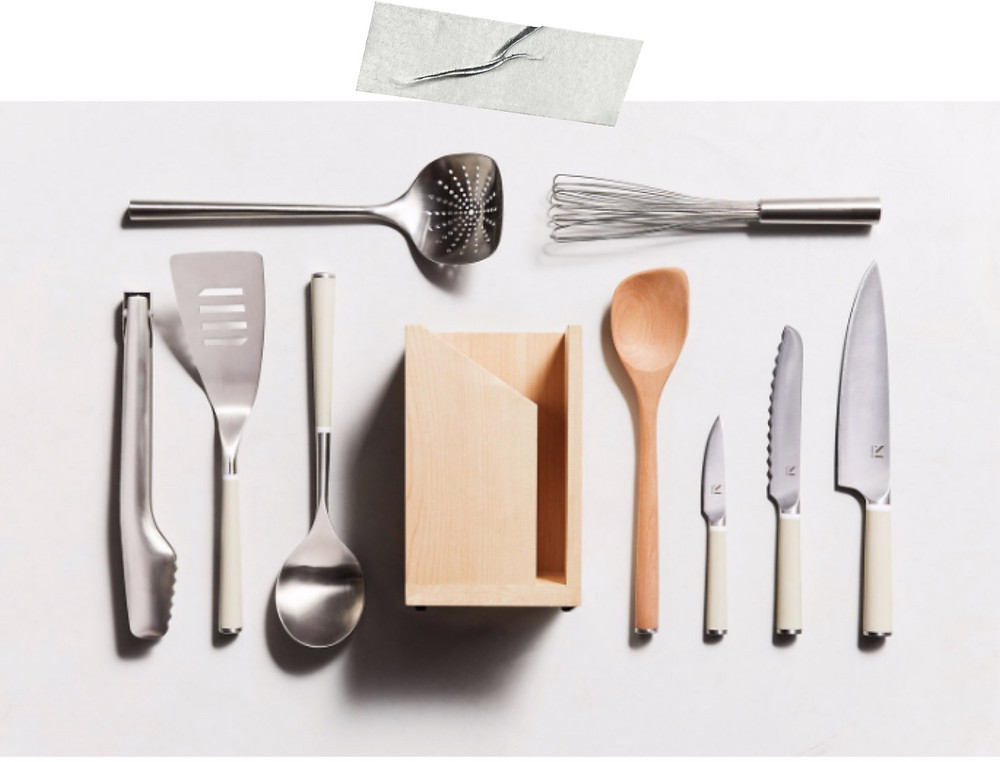 Modern chefs knives and kitchen utensils